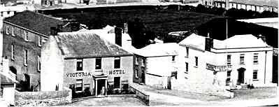 The Victoria Hotel in its heyday. The function block is at the rear, and the Clarence Inn  is across the road.