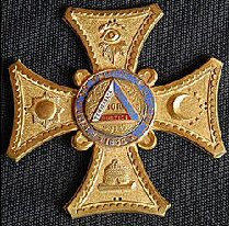 Badge worn by Pembroke Dock Rechabites.