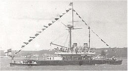 HMS Thunderer, launched 1872, later Pembroke Dockyard's guardship